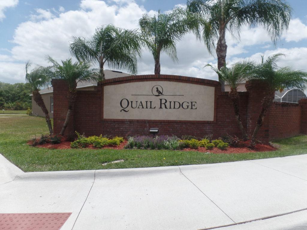Quail Ridge Sign