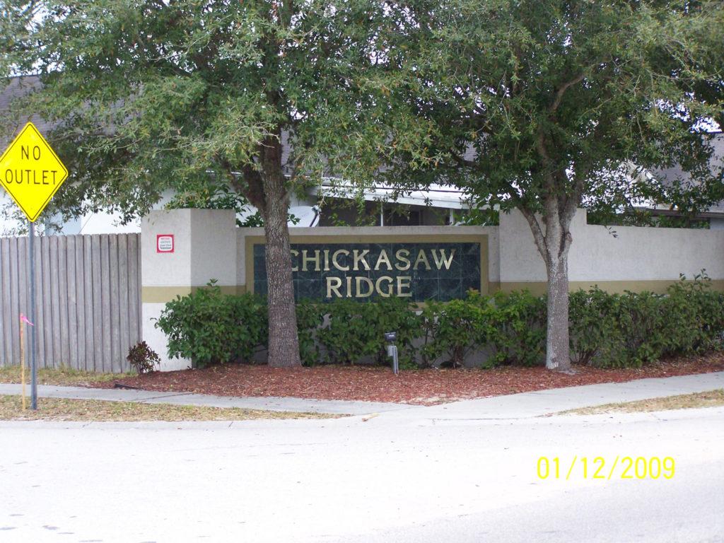 Chickasaw Ridge Sign