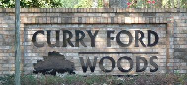 Curry Ford Woods Sign
