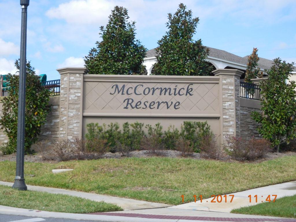 McCormick Reserve Sign